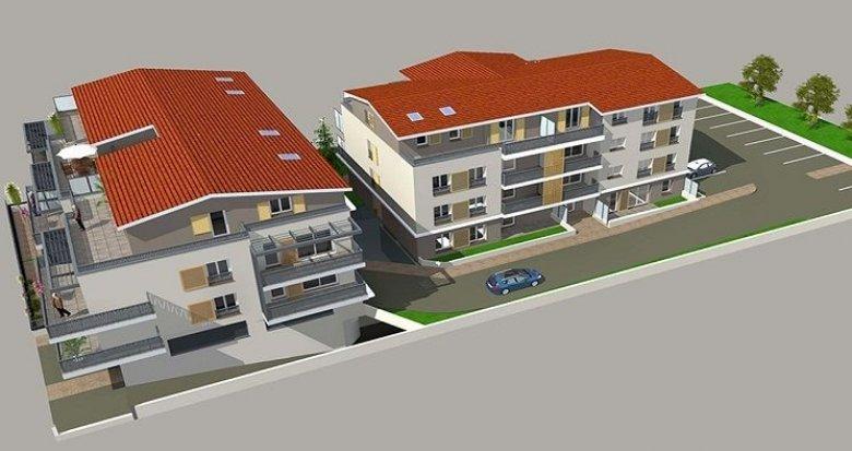 Achat / Vente immobilier neuf Genas face à l'église et 15 minutes de Lyon (69740) - Réf. 762