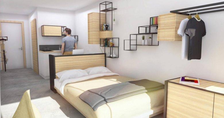 Achat / Vente immobilier neuf Lyon 08 résidence étudiante quartier Grand Trou (69008) - Réf. 6254