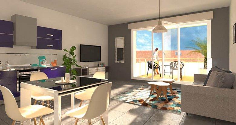 Achat / Vente immobilier neuf Lyon 3 proche Grange Blanche (69003) - Réf. 1233