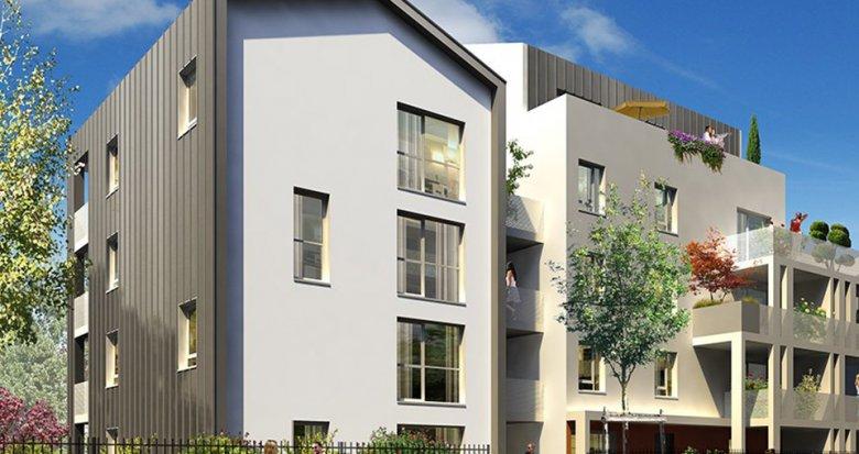 Achat / Vente immobilier neuf Lyon 8 proche des transports en commun au cœur d'un parc (69008) - Réf. 1414