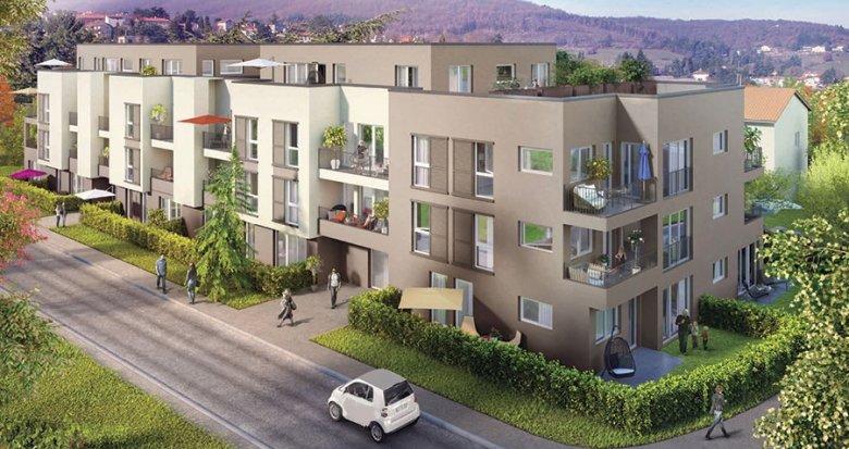 Achat / Vente immobilier neuf Pollionnay dans un cadre champêtre (69290) - Réf. 352