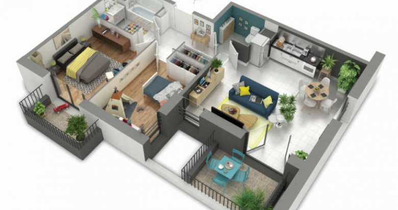 Achat / Vente immobilier neuf Rillieux-la-Pape proche centre-ville (69140) - Réf. 358