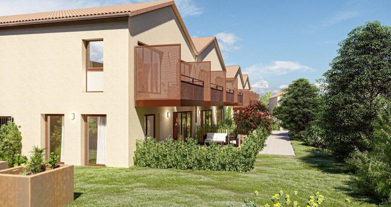 Achat / Vente immobilier neuf Saint-Priest à deux pas du quartier Le Village (69800) - Réf. 6073