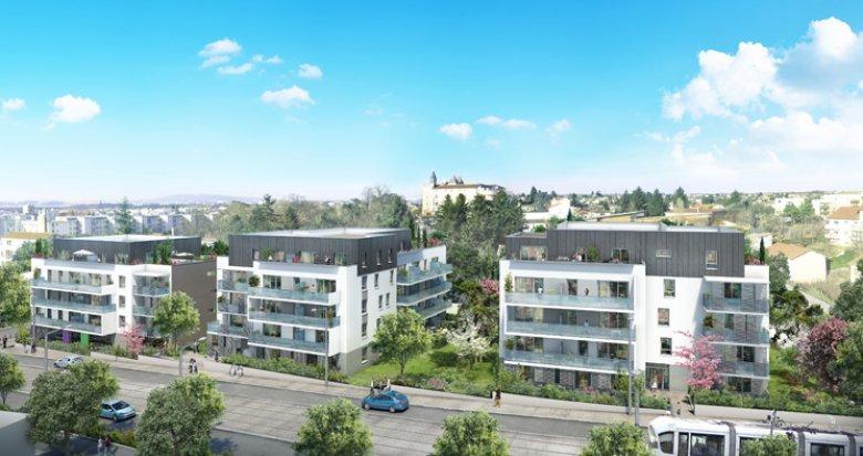 Achat / Vente immobilier neuf Saint-Priest proche complexe nautique Jacques Coeur (69800) - Réf. 2943