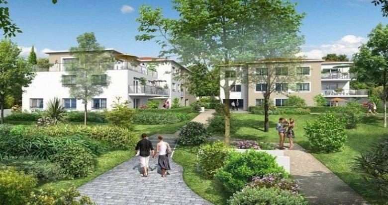 Achat / Vente immobilier neuf Sainte-Foy-lès-Lyon au cœur d'un parc arboré à 15 minutes de Lyon (69110) - Réf. 1243