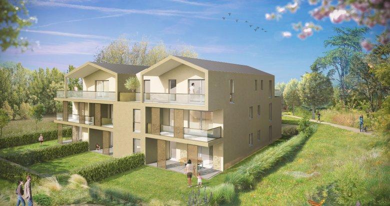 Achat / Vente immobilier neuf Tassin-la-Demi-Lune au calme mais proche des commodités (69160) - Réf. 1801