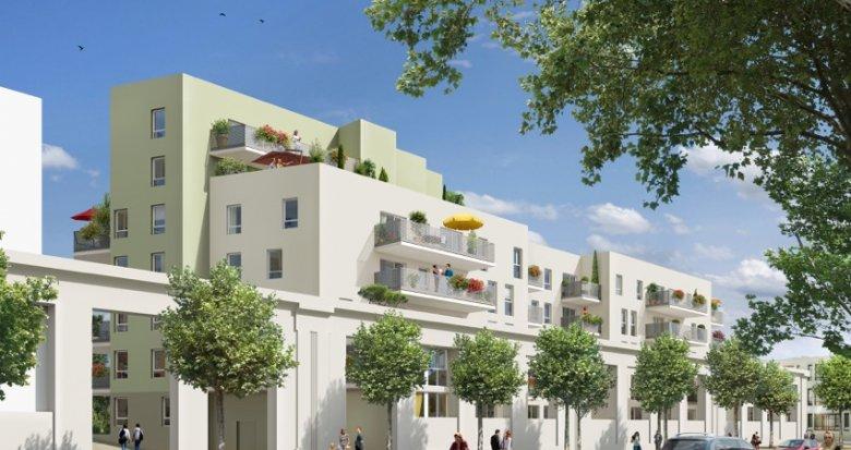 Achat / Vente immobilier neuf Vaulx-en-Velin nouveau quartier Carré de Soie (69120) - Réf. 402