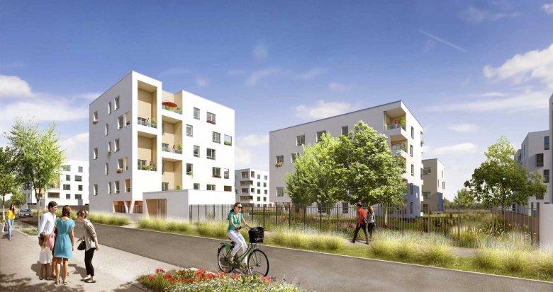 Achat / Vente immobilier neuf Vaulx-en-Velin proche centre-commercial Carré de Soie (69120) - Réf. 1591