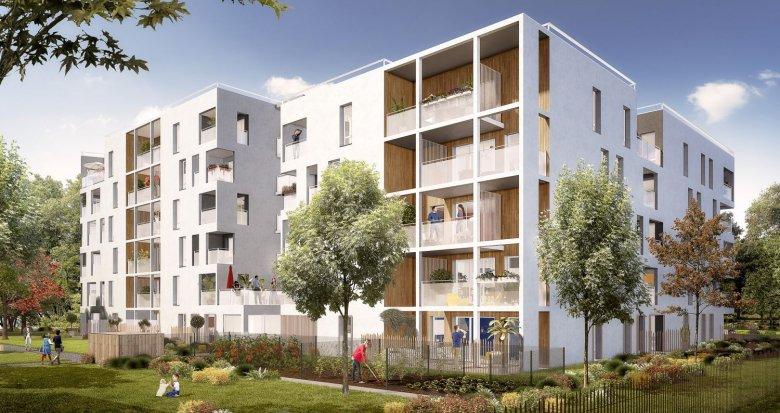 Achat / Vente immobilier neuf Vaulx-en-Velin quartier Carré de Soie (69120) - Réf. 3437