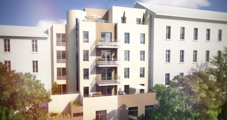 Achat / Vente immobilier neuf Villeurbanne à moins de 100m du Métro Flachet (69100) - Réf. 682