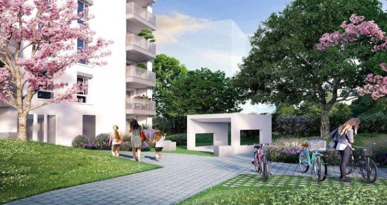 Achat / Vente immobilier neuf Villeurbanne au coeur du quartier Carré de Soie (69100) - Réf. 4029